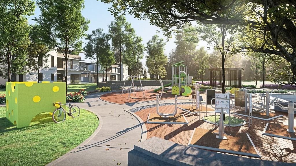 The playground and jogging tracks are stepping stones to community bonding, allowing family camaraderie or a quiet time beneath the peaceful shade of trees.