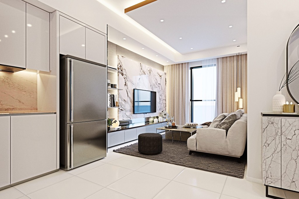 Residential units are refined for living comfort with a luxurious touch.