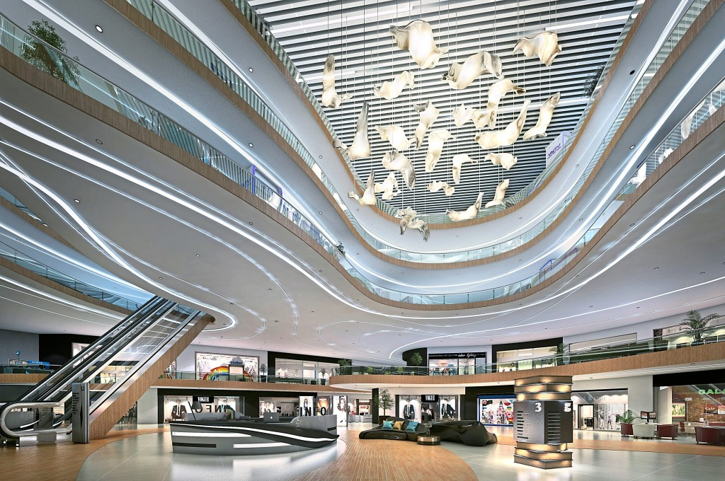 The Sail boasts over one million sq ft of luxury retail space.