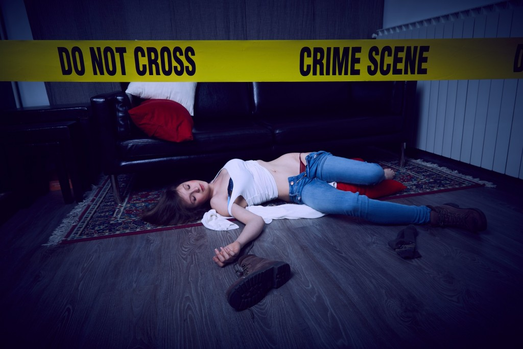110279643 - crime scene illustration background.