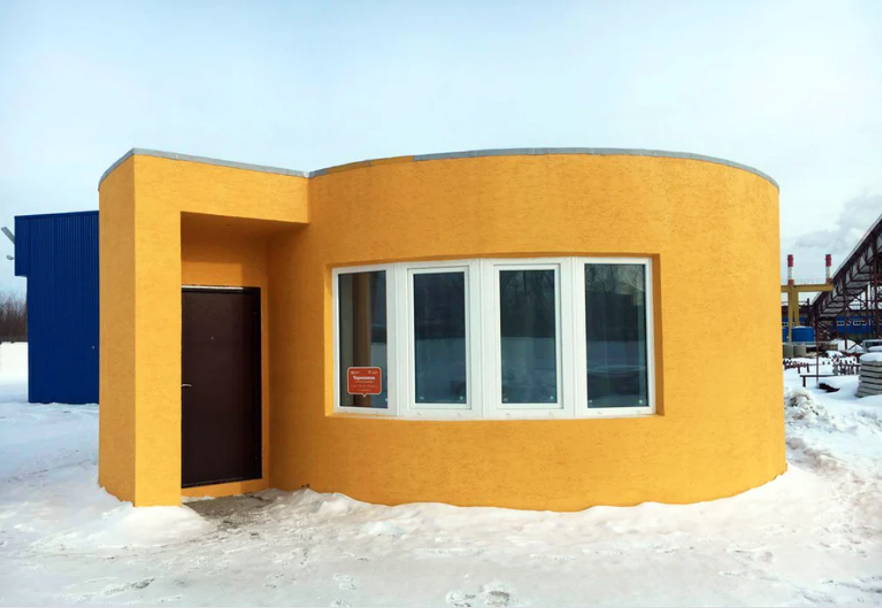 Sample 3D printed house by Apis Core