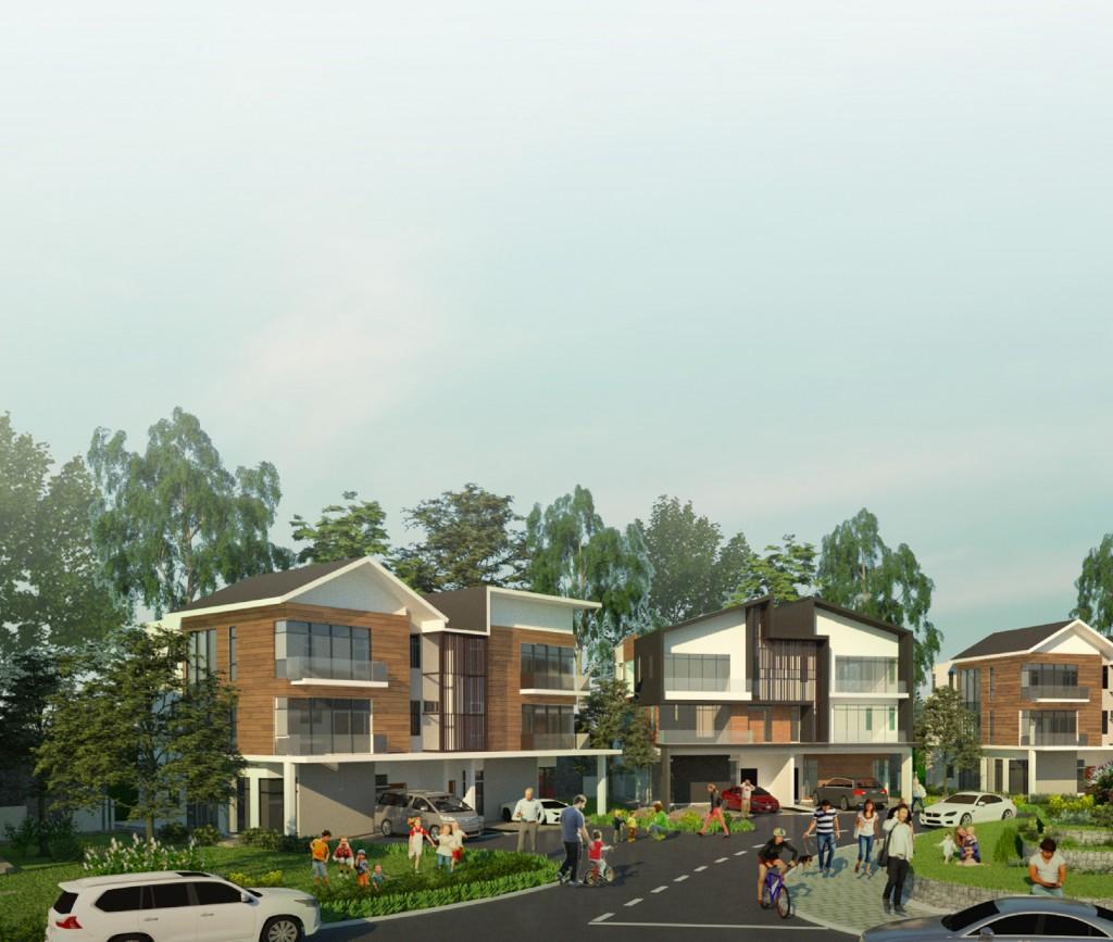 Northwood semi-detached homes feature a sophisticated façade design.