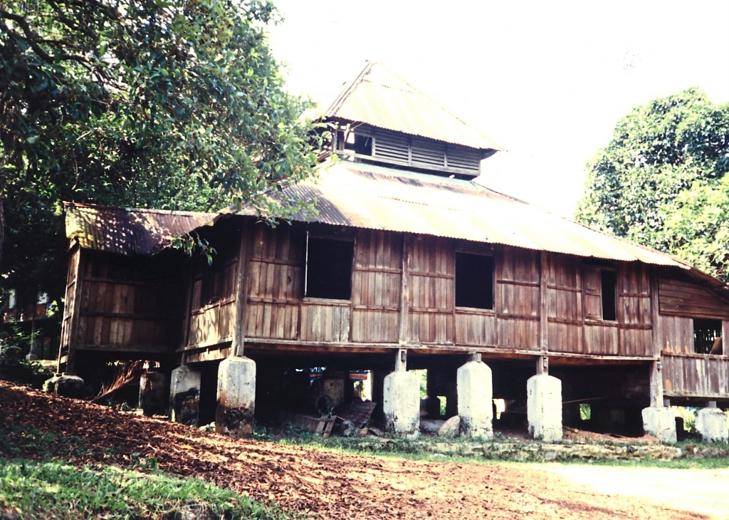 A century-old timber mosque in Papan, Perak.