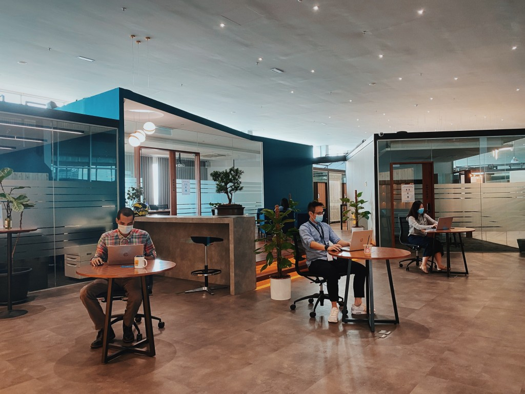 Members practising social distancing at Co-Labs Coworking