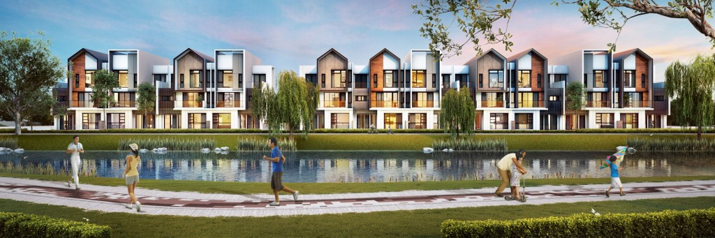 Luxura link villas feature multi-facade designs, with views that overlook the lake.