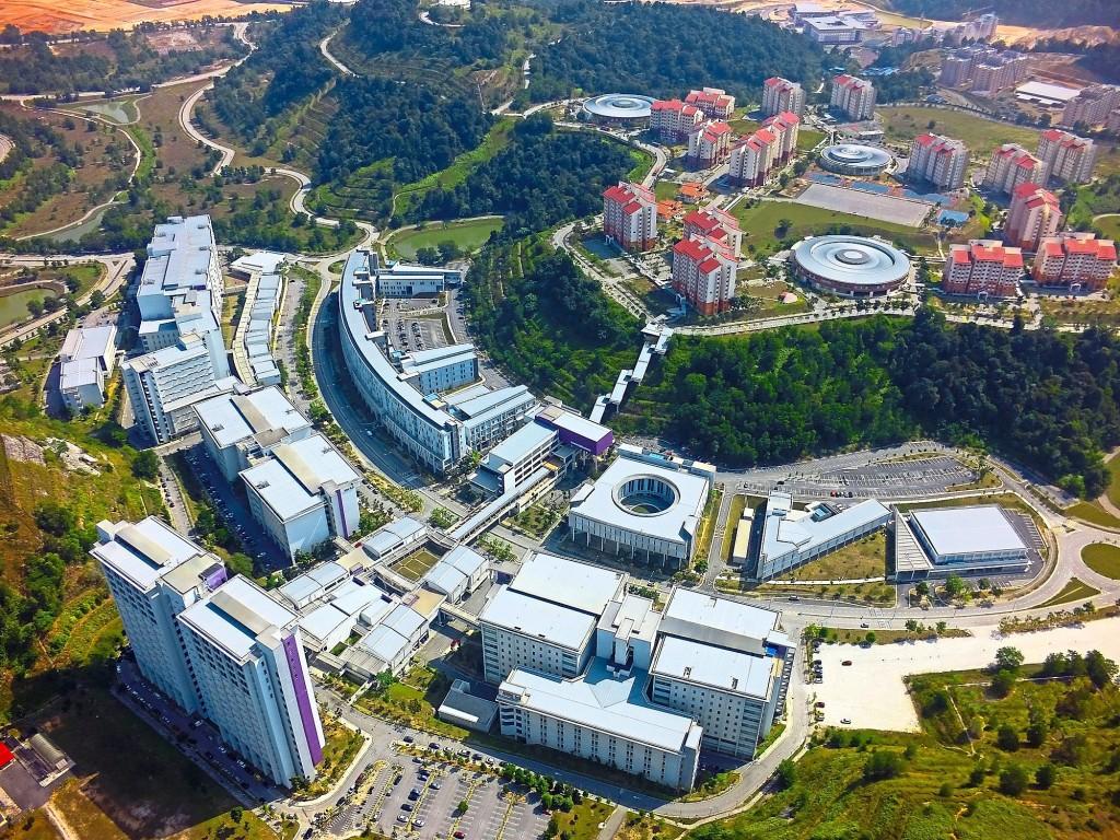 Aerial view of the UiTM campus in Puncak Alam, Selangor.