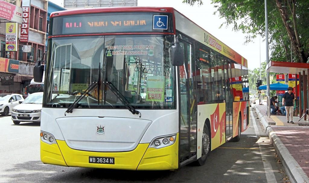 Smart Selangor bus services.