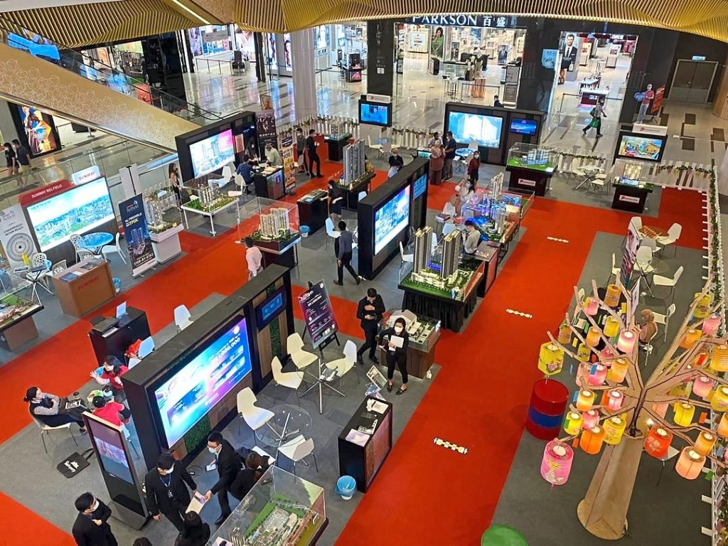 A recent photo of a StarProperty Fair held at Sunway Velocity Shopping Mall.
