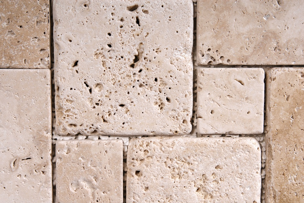 17369782 - travertine tiles  texture