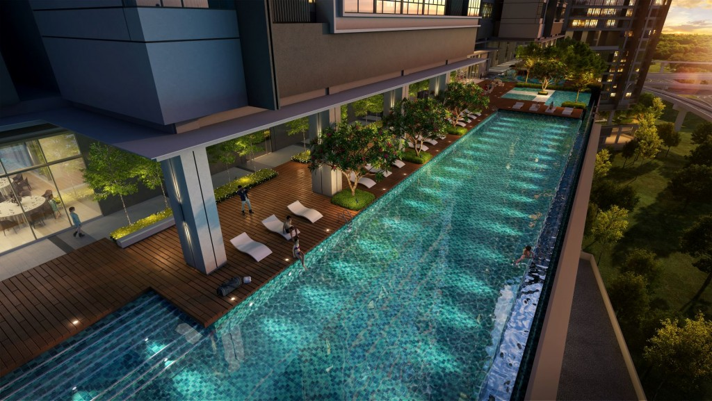 Facilities include a 50m Olympic length infinity pool
