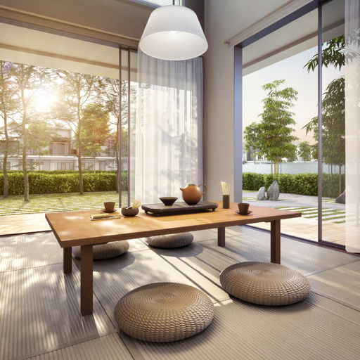 Enso Woods, Gamuda Cove features a modern, minimalist aesthetic inspired by the Japanese concept of danshari.