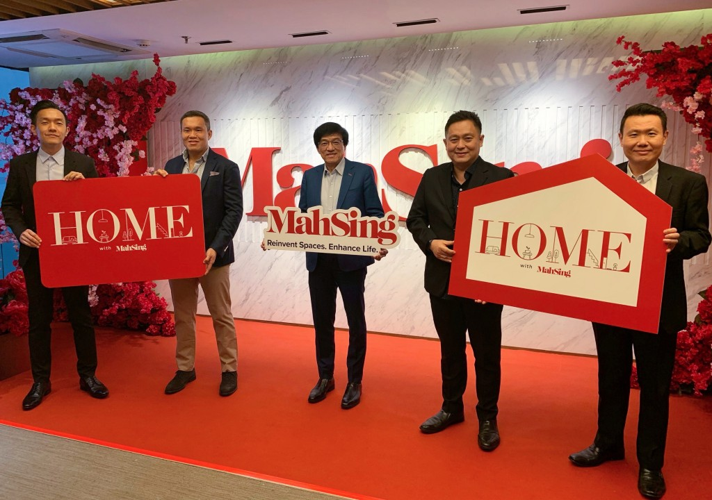 (from left) Mah Sing branding general manager Bernard Yong,   chief operating officer Benjamin Ong Chin Yee, Ho, chief operating officer Yeoh Chee Beng and general manager (sales) Chris Chen at the event.