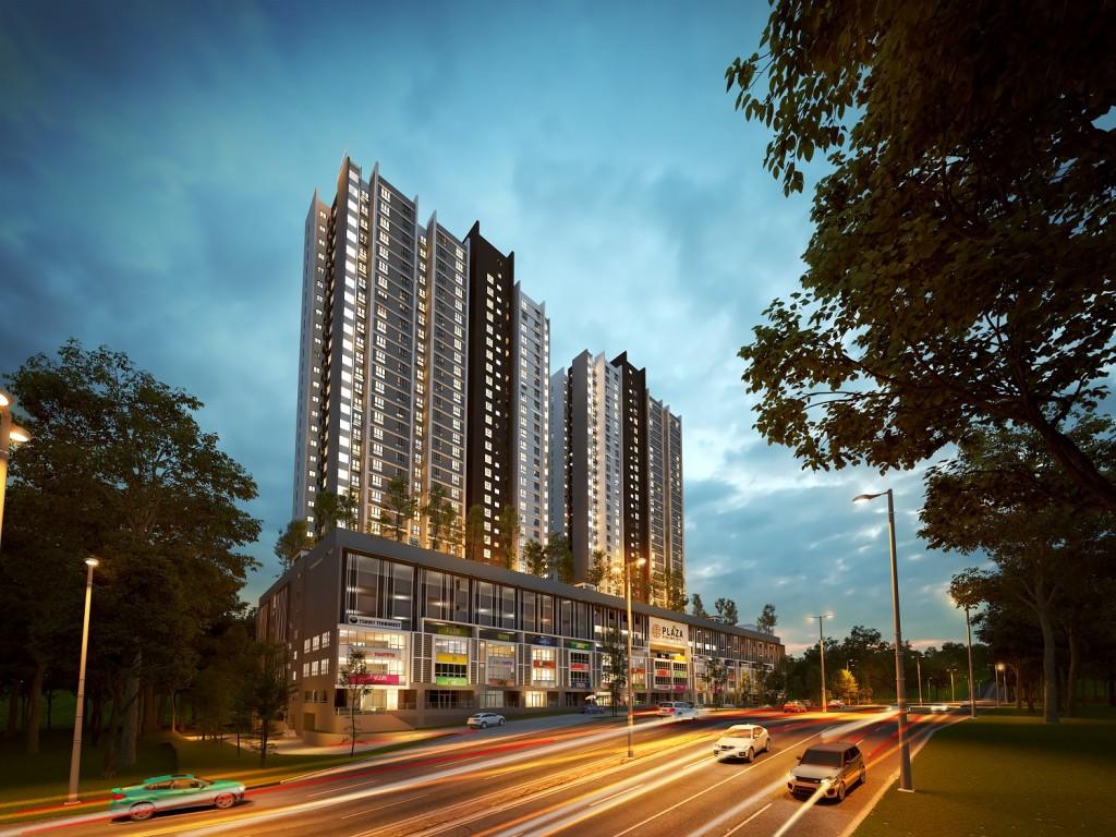 The Plaza@Kelana Jaya service apartments are priced from RM388,000.