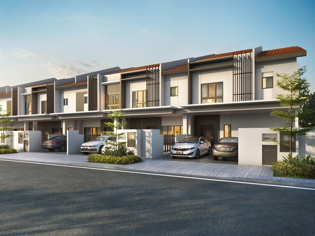 Type F of Plenum offers thoughtfully designed spaces with four bedrooms and two living areas.