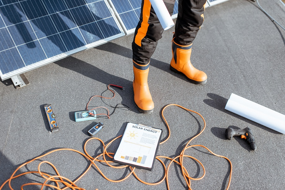 Working tools for installing solar panels