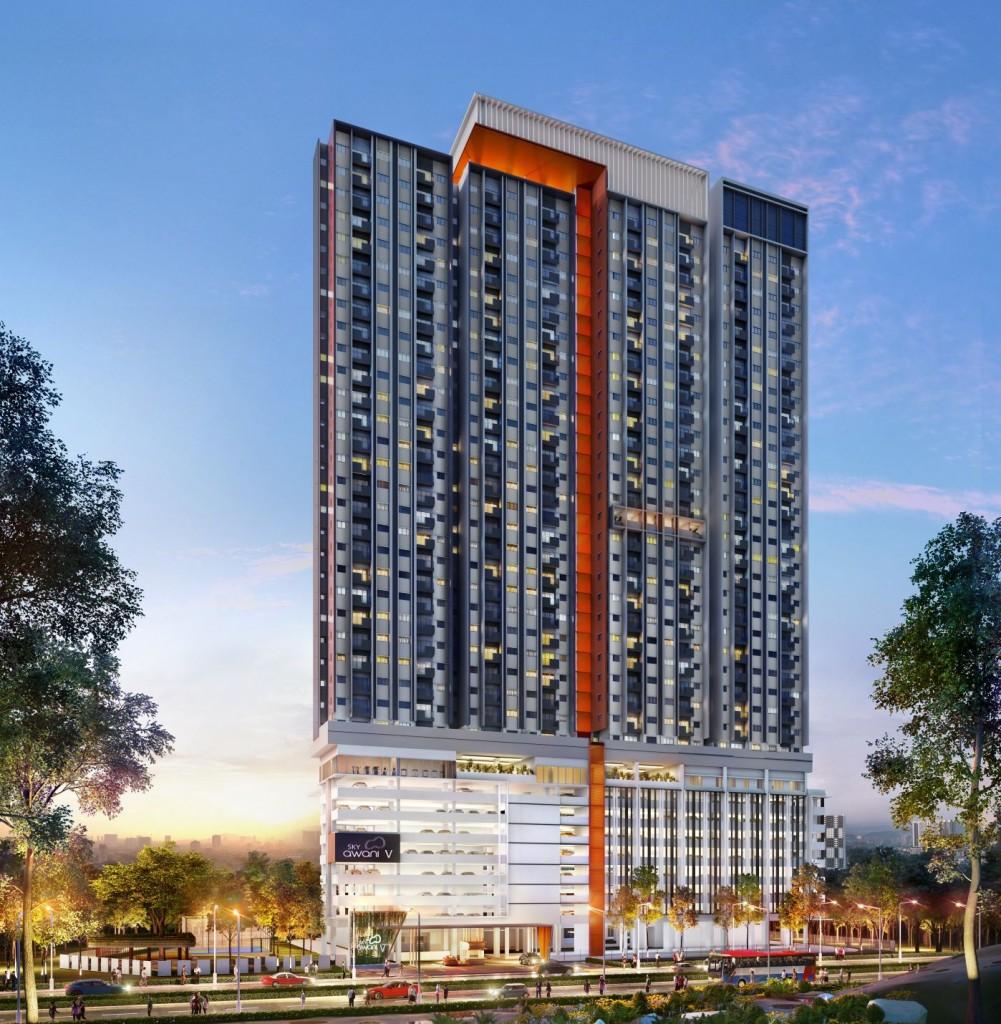 SkyAwani 5 in Sentul offers spacious homes with full-fledged condominium facilities.