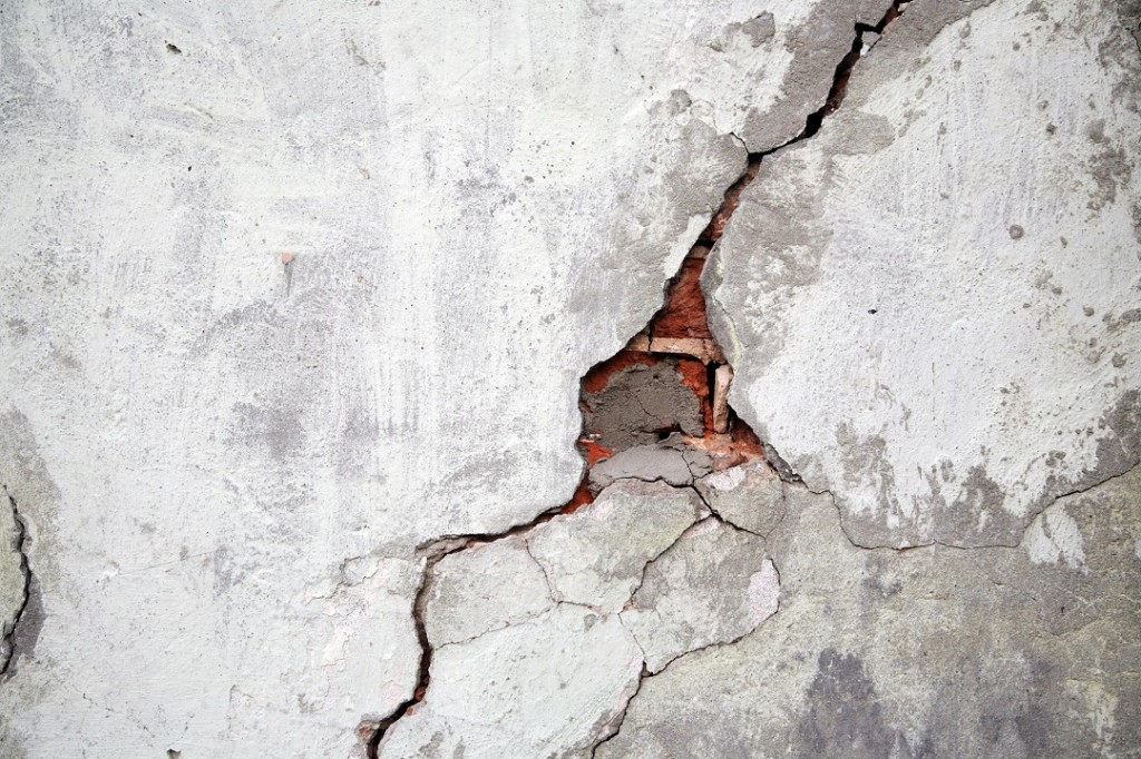 3067720 - crack on a wall of an old building