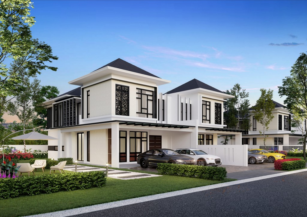Alocasia's tropical semi-detached homes in Setia Tropika come fitted with smart home features.
