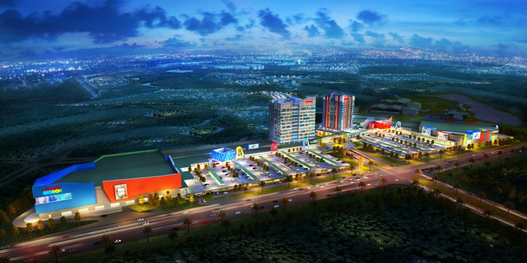 An artist impression of Sunway Big Box Office Tower and its surroundings.