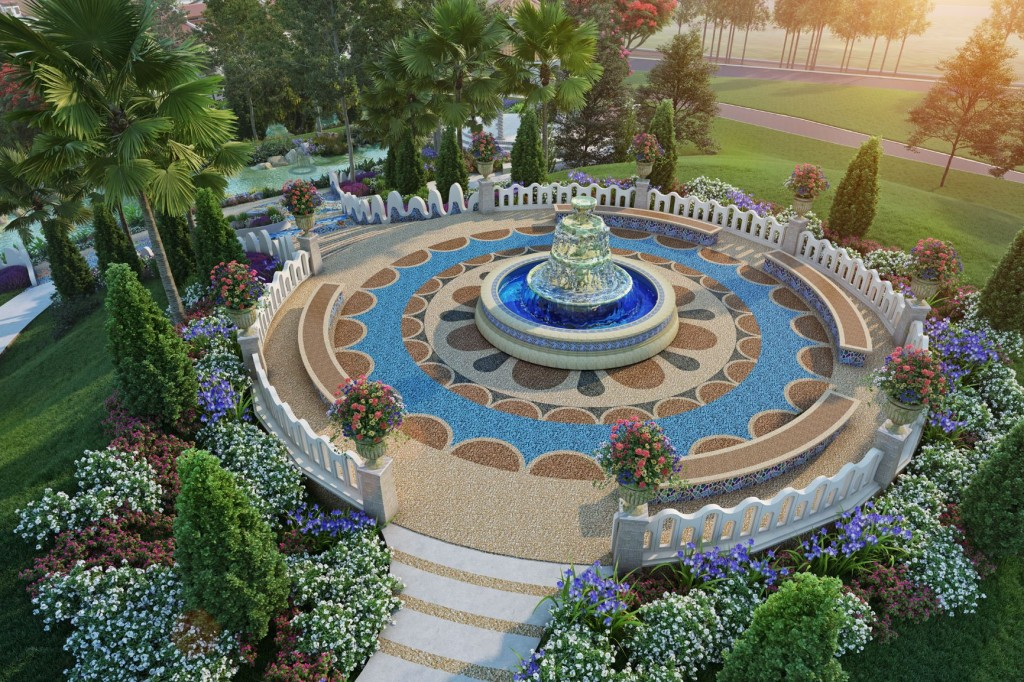 The Alcazar Fountain is one of the main attractions of the township.