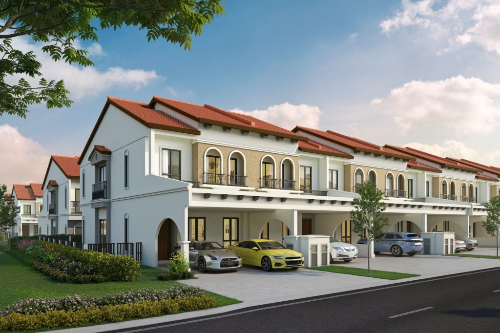 Amadeo offers double-storey linked homes.