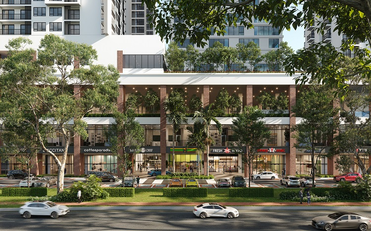The rendering of the front retail view as according to the artist's impression.