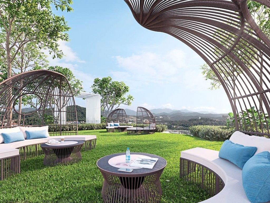 Enjoy the open outdoors an at elevated position atop  The Valley Residences.
