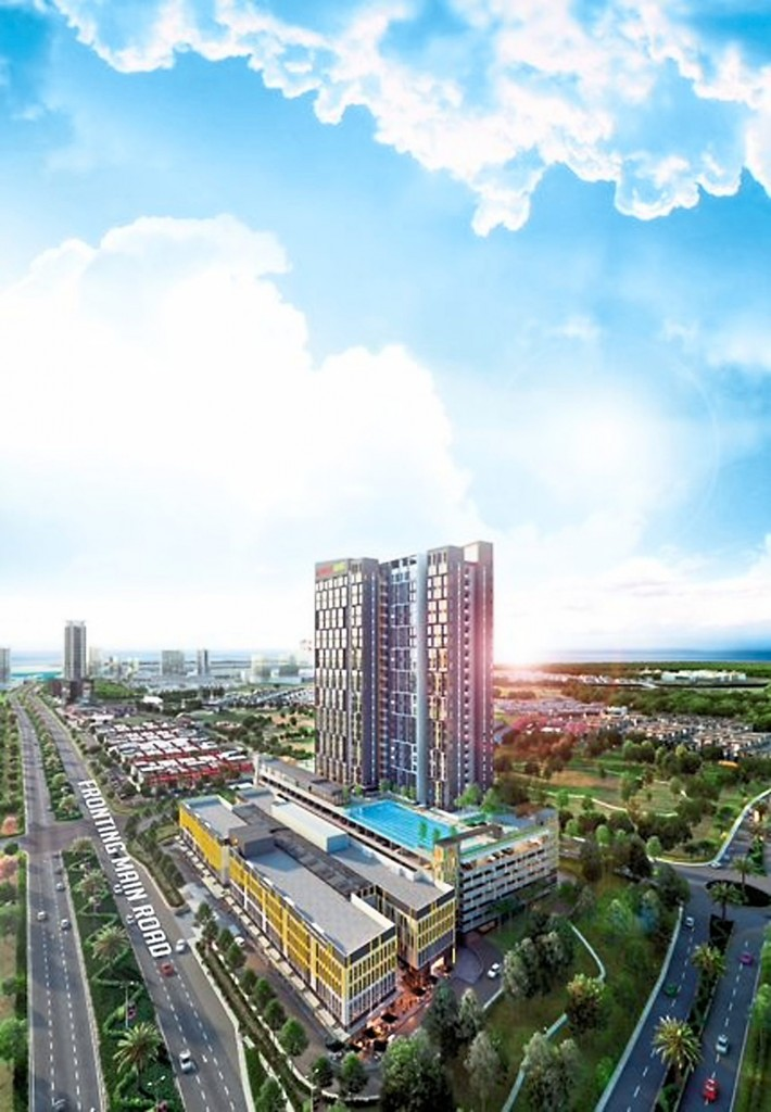 With a total of 501  units, the Sunway GRID  Residence stretches  across 5.11 acres of land.