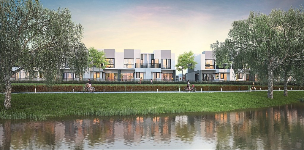 The Sunway  Citrine Lakehomes is  500 metres from the  future seafront precinct  in Sunway City Iskandar  Puteri.