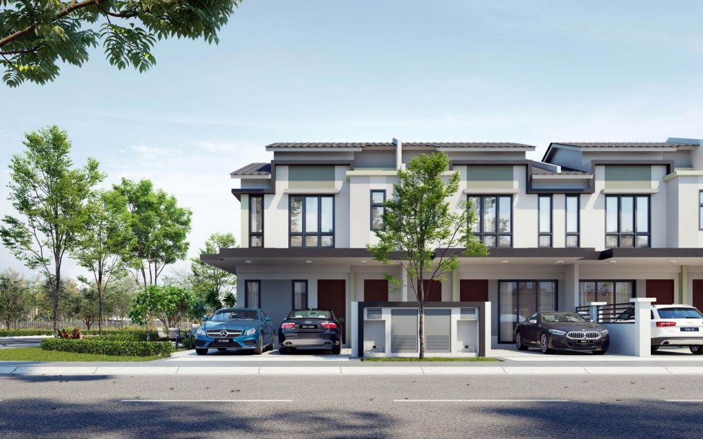 An artist impression of Primrose, one of Glomac's housing projects in Saujana KLIA, Selangor. The developer posted better results due to the higher take up rates for its projects.