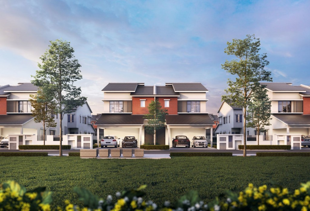 There is a substantial demand for houses like the double-storey Semi-Ds of Erama Homes.