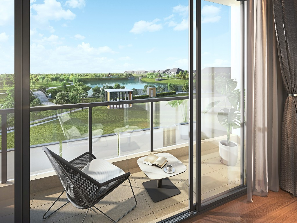 Feast your eyes upon the lush vista from your vantage perch by the balcony.