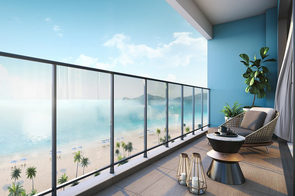 Residents can enjoy the stunning sea view from this beachfront development.