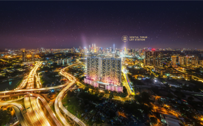 Being 300m to LRT Sentul Timur Station, SkyMeridien Residences nestled close within 5km away from KL City Centre.