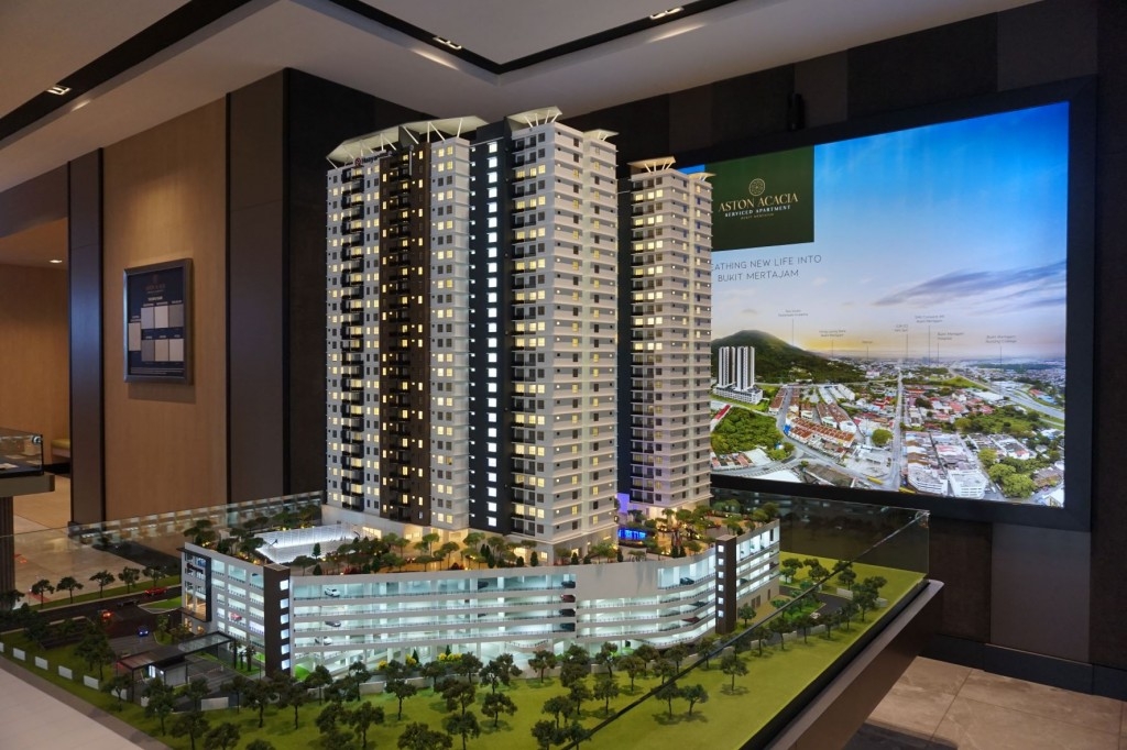 A scale model of Aston Acacia is on display at the Hua Yang showroom.